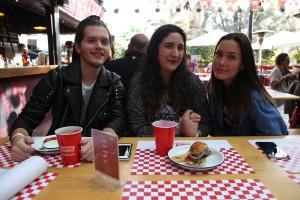 Erick Medina, Macarena Carballo y Carla Medina